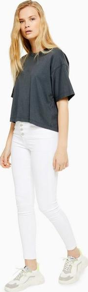 White Button Fly Jamie Jeans