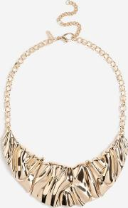 Wide Crushed Collar Necklace