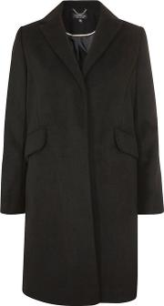 Womens Black Amber Overcoat