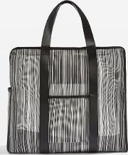 Womens Luna Stripe Luggage Bag