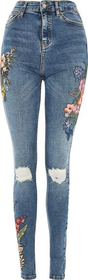 Womens Tall Toucan Embroidery Jeans