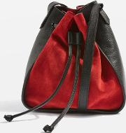 Womens Zena Suede Mini Bucket Bag