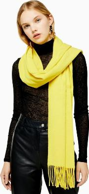 Yellow Recycled Super Soft Scarf