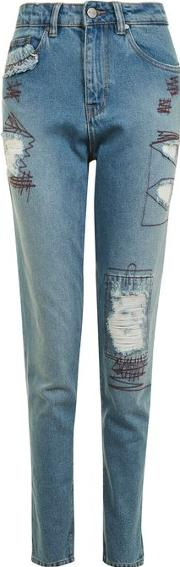 Womens Mom Jeans With High Waist And Relaxed Leg By Waven
