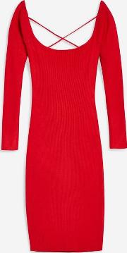 Aileen Red Knitted Dress