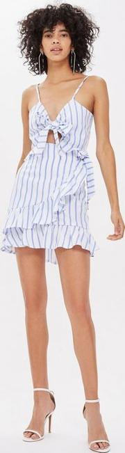 All Good Blue Striped Skirt