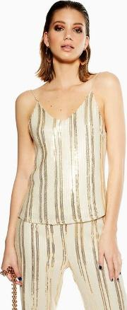 Ariel Cream And Gold Camisole Top