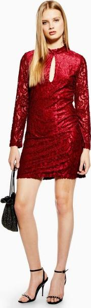 Just A Thought Maroon Mini Bodycon Dress
