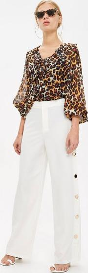 Party Favours Ivory Wide Trousers