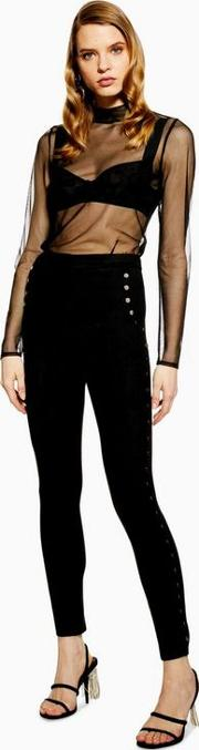 Ride On Black Suede Studded Trousers
