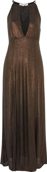 Womens Out Of My League Metallic Maxi Dress By Wyldr