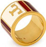 Tory Burch Geo Striped Ring