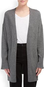 Ariana Cardigan In Mid Heather Grey