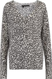 Diane Animal Jumper Print Jumper In Chalk And Charcoal
