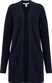 Cashmere Blends Shaker Open Cardigan Exclusive In Peacoat