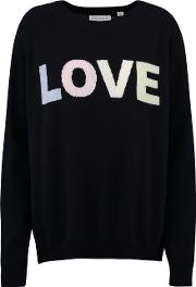 Love Sweater In Navy And Pink