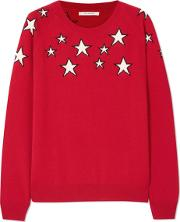 Stardust Sweater In Poppy, Cream And Navy
