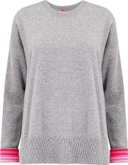 Open Back Zip Jumper In Grey