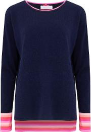 Round Neck Jumper In Navy