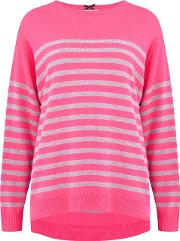 Stripe Jumper In Bowie And Grey