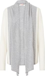 Striped Cardigan In Grey And Chalk