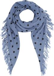 Pois Dot Scarf In Jean Blue And Navy
