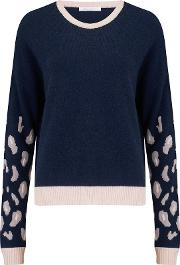 Animal Sleeve Jumper In Cosmos And Dawn