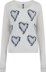 Heart Jumper In Cream And Bubble
