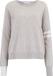 Striped Nyc Jumper In Agate Heather And Ivory
