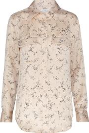 Slim Signature Shirt In French Nude Floral