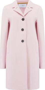 Boxy Coat In Blush Pink