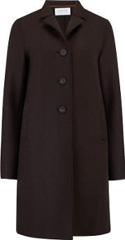 Boxy Coat In Chocolate
