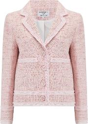 Ava Boxy Jacket In Pink