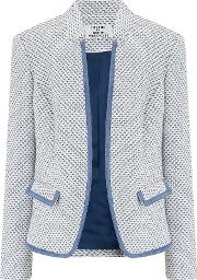 Giolica Notch Collar Jacket In Blue And Cream