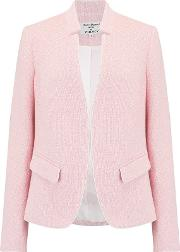 Notch Collar Jacket In Pink