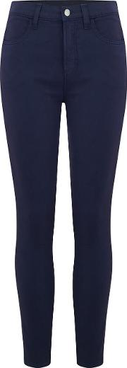 Alana High Rise Cropped Jean In Rugby Blue