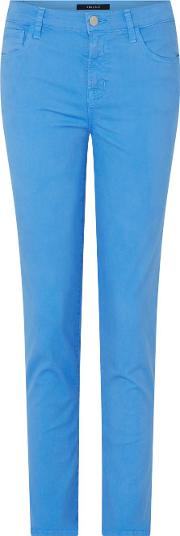Ruby Cropped Cigarette Jean In Cornflower Blue