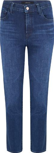Ruby Cropped Cigarette Jean In Nightshade