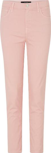 Ruby Cropped Cigarette Jean In Pink Blossom