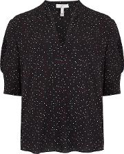 Ance Blouse In Caviar