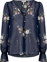 Bolona C Blouse In Midnight Floral
