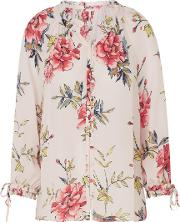 Corsen Floral Blouse In Rosewater