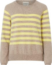 Jumper In French Brown Stripe