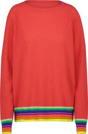 Mexican Wave Sweater In Crimson