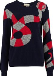 Snake Jumper In Navy And Red