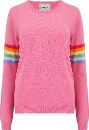 Summer Rainbow Jumper In Candy Pink
