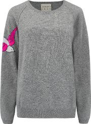 Swallow Jumper In Grey And Pink