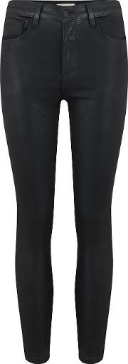 Margot Skinny Coated Jean In Black