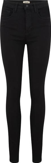 Marguerite High Rise Skinny Jean In Noir