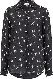 Nina Blouse In Black And Ivory Stars